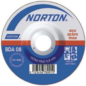 "Disco de corte Inox 4.1/2"" x 1,6mm x 7/8"" NORTON"