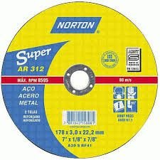 Disco P/Ferro Norton 7 X 1/8 X 7/8pol AR 312