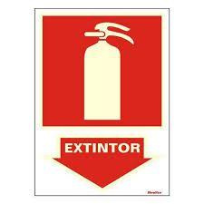 "Placa Sinalizacao ""EXTINTOR "" Fluorescente PVC 20x30"