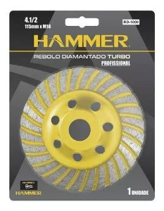 Rebolo Diamantado Turbo Desbaste 115mm Hammer