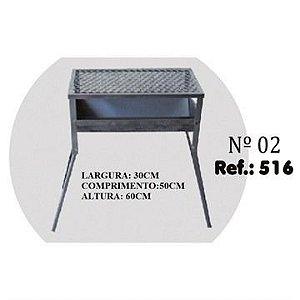 Churrasqueira Chapa Riskgas N.2 30x50x60cm ref 516