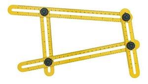 Régua Medidora Esquadro Multi Ângulo Esquadriflex Deplasti