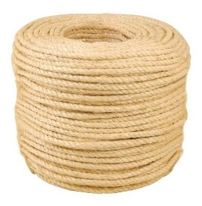 "Corda Sisal Torcida 12mm 1/2"" 220mt"