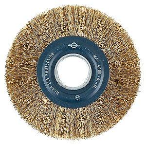 Escova Circular de Aço Latonado 6″ x 3/4″ BRASFORT 7247