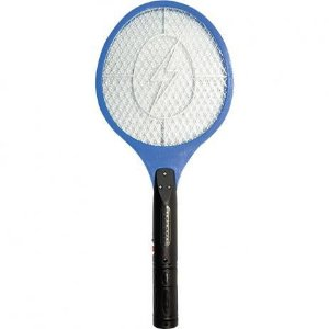 Raquete Elétrica Mata Mosquitos Recarregável Bivolt ALFACELL