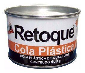 Massa Plastica RETOQUE 400Gr Branca c/ Catalisador