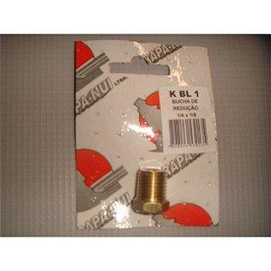 Bucha de Reducao p/ Ar Comprimido 1/4 x 1/8 BL1