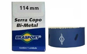 25 pç Serra Copo Aço Rapido BRASFORT 114mm 8955