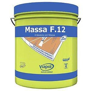 Massa F12 Calafetar Correção Madeira Viapol 400g Mogno