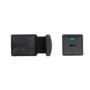 Trinco WC Livre/Ocupado PVC 35mm Preto LOCKWELL 823