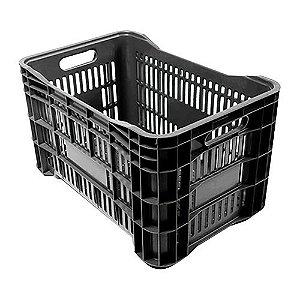 Caixa Plástica p/ Mercado 52lt Preta PLASTAND
