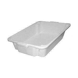 Caixa Plástica p/ Massa Concreto Pvc 20l Zumplast Branca