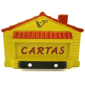 Caixa Carta Correio Plast. Gradil Casinha Am. POWER