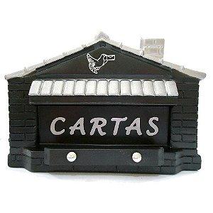 Caixa Carta Correio Plast. Gradil Casinha Cz POWER