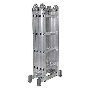 Escada De Alumínio Dobrável 16 Degraus 4x4