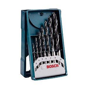 Kit Broca BOSCH Aço Carbono 07pç 3 A 10mm