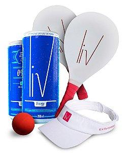 Kit Energia Liv - 36 uni. + Viseira + Frescobol