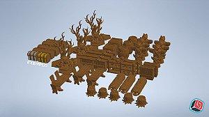 Kit 3D Completo Gloomhaven - 157 peças