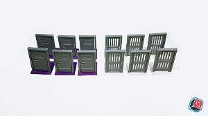Portas Zombicide Prison Outbreak - 12 unidades
