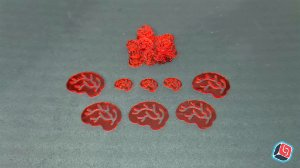 Kit de Cérebros Zombie Dice em Acrílico