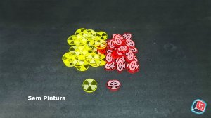 Kit de Tokens Manhattan Project Chain Reaction em Acrílico