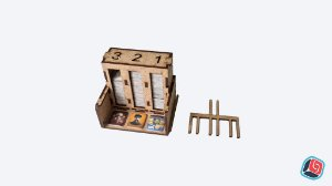 Dispensador de tokens Great Western Trail em MDF