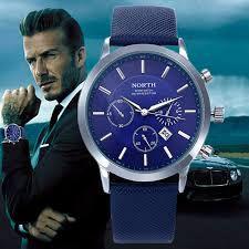 52778476125 relógio Masculino north marca luxo casual quartz sports pulseira de couro