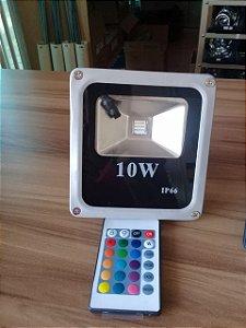 Refletor de led RGB 10W c/ controle