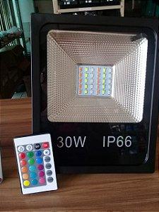 Refletor de led RGB 30w c/controle