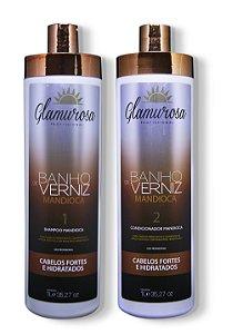 Kit Glamurosa Shampoo + Condicionador Mandioca 1L
