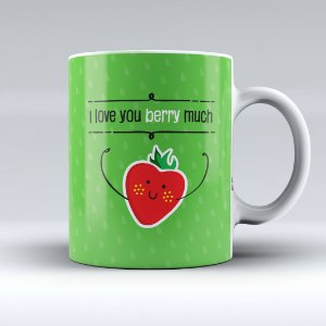 Caneca - I Love You Berry Much