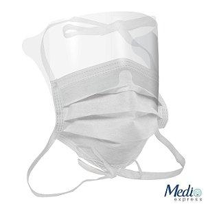 Mascara Cirúrgica com Protetor Visual - Tiras - 5 UN