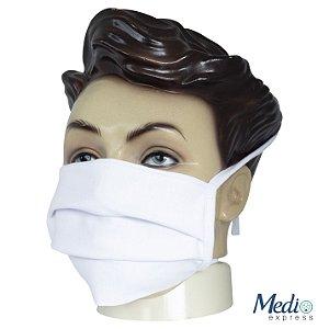 Máscara Em Tecido Com Tiras Lavável - 10 unidades