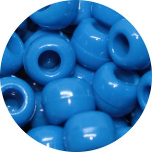 Miçanga Pesca Lisa - Azul 10 Unidades