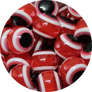 Miçanga Pesca Olho Grego Vermelha 10mm