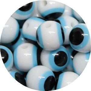 Miçanga Pesca Olho Grego Branca 10mm