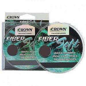 Linha Crown Monofilamento Fiber Soft Verde 250m