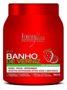 Forever Liss Máscara Banho de Verniz Morango 1kg