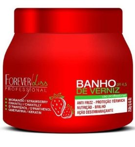 Forever Liss Máscara Banho de Verniz Morango 250gr