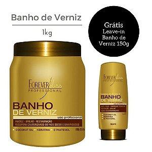 Forever Liss Máscara Banho de Verniz Brilho Hidratante 1kg + Leave-in grátis!