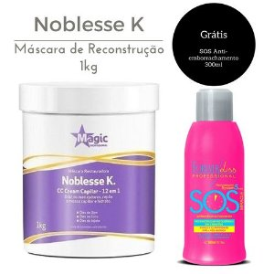 Magic Color Máscara Restauradora Noblesse K. 1KG + SOS grátis!