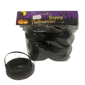 Mini Balde Caldeirão Preto Halloween C/ 6 Un.