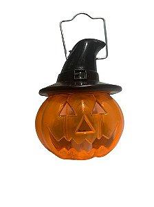Mini Lanterna Abobora C/ Led Halloween Un.