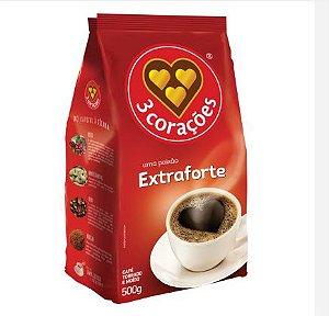 CAFE EXTRA FORTE POUCH 3 CORAÇÕES CX C/ 10X500 GR.