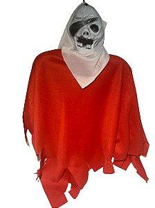 Enfeite Fantasma Caveira Suspenso Halloween Un.