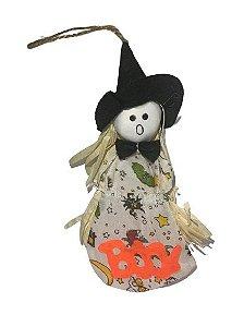 Enfeite Bruxinha Fantasma porta Doce 23Cm Halloween Un.