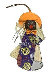 Enfeite Bruxinho Porta Doce Halloween 23Cm Un.
