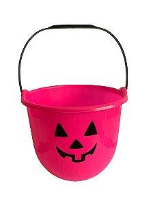 Baldinho Rosa P/ Doce Halloween 15Cm Un.