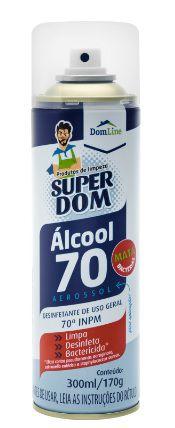 Álcool Aerossol 70º Domline C/ 300Ml