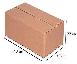 Caixa de Papelão P/ Mudança Nova (P) A22XL30XC40Cm C/ 5 Un.